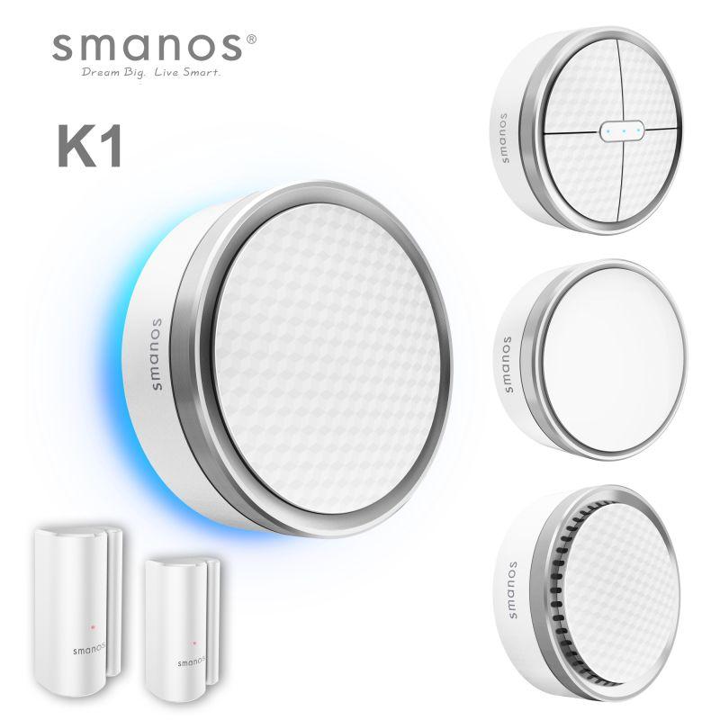 Il K1 Smart Home System è l'ultima Smart Home wireless e integrata e gateway di sicurezza di smanos che combina varie funzioni di sicurezza con un design elegante a cui sei abituato da Smanos.
