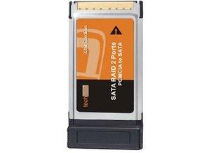 Techsolo PCMCIA to SATA, 2 Ports Sata Raid