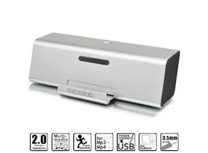 Lasmex MD220 Portable Stereo Speaker for Tablet, Smartphone and Notebook