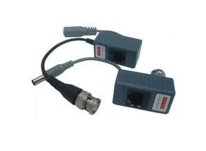passieve adapter set, BNC naar RJ45 + PoE