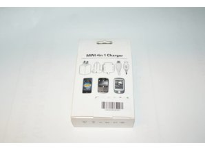 DUO Mini 4 in 1 Charger, for IP 3GS/ 4G/ BB/ HTC (-stekker)