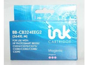 Hewlett Packard vervangende inkt BB-CB324EEG2 364XL M magenta