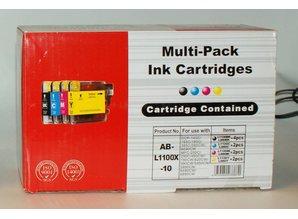 Brother vervangende inkt AB-L1100x-10 voordeelverpakking