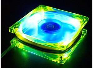Sharkoon Sharkoon UV reactive LED fan yellow-blue