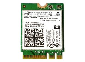 Intel Dual Band Wireless-AC 3160 NGFF M2 Use For Intel AC 3160NGW 802.11ac 2x2 Wi-Fi + Bluetooth 4.0