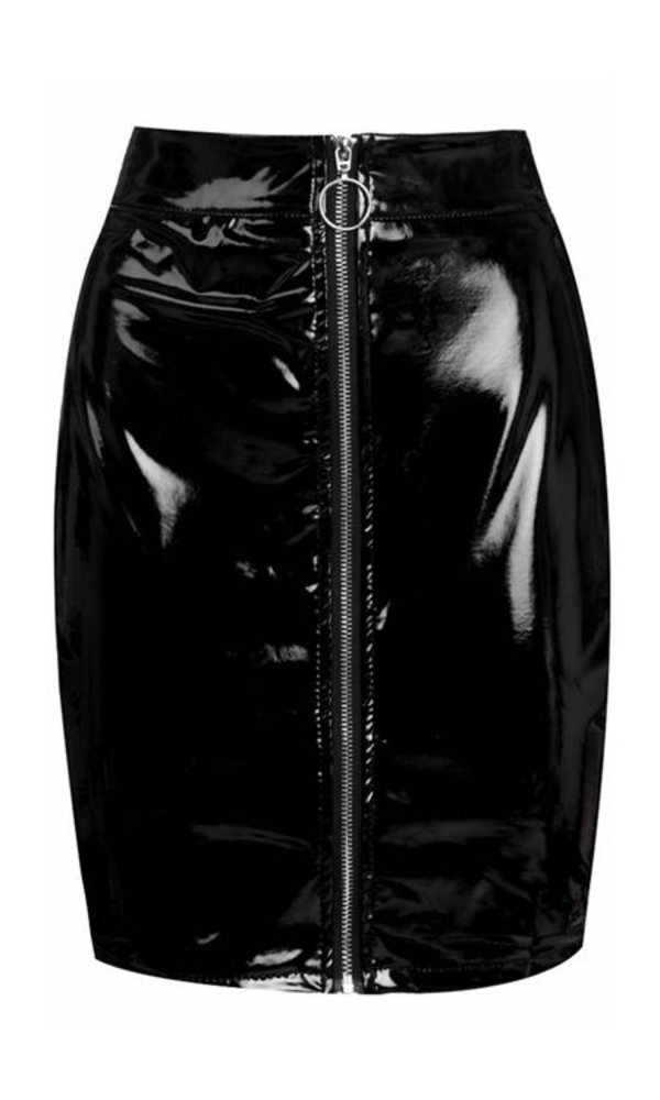 Wetlook Skirt Black