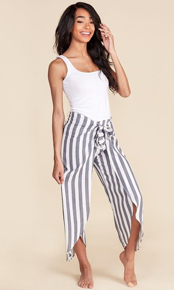 Striped Pants Grey