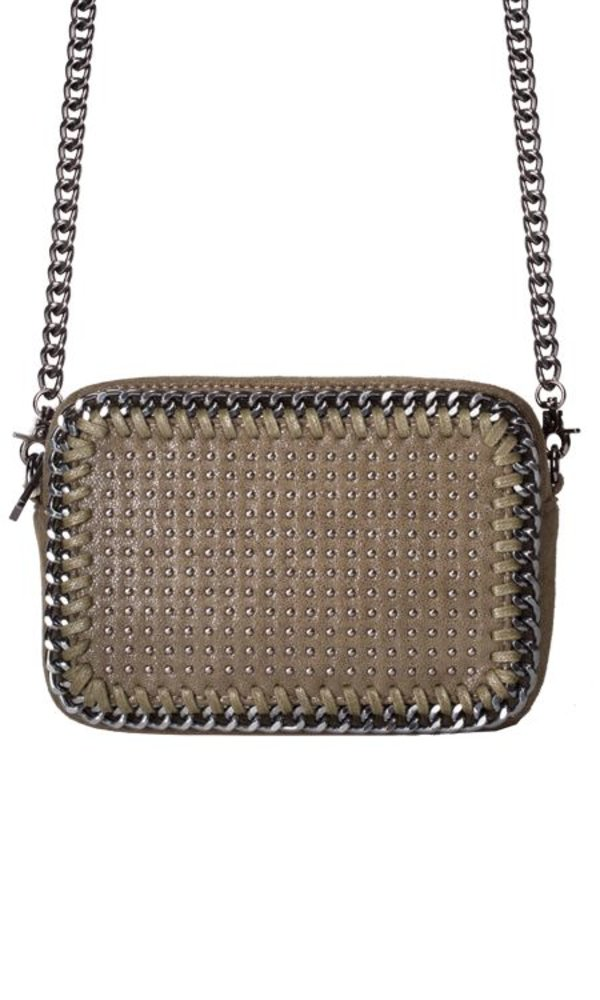 STUDDED BAG KHAKI