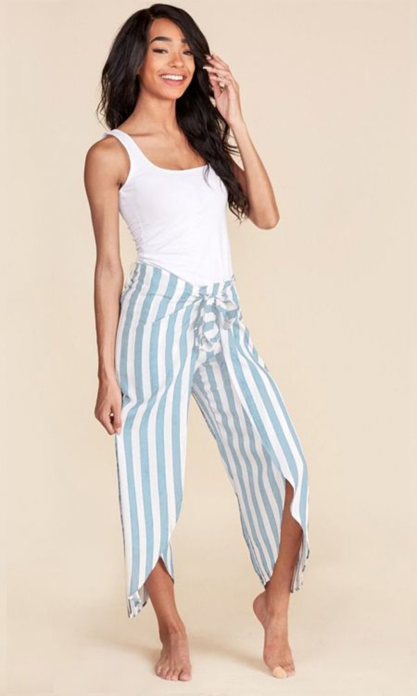 Striped Pants Blue