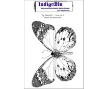 IndigoBlu Big Butterfly Mounted A6 Rubber Stamp (BB II)