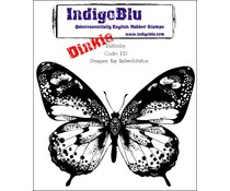 IndigoBlu Flutterby Dinkie Mounted A7 Rubber Stamps (F-D)