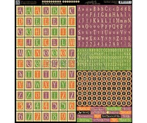 Graphic 45 An Eerie Tale Alphabet Stickers (4500951)