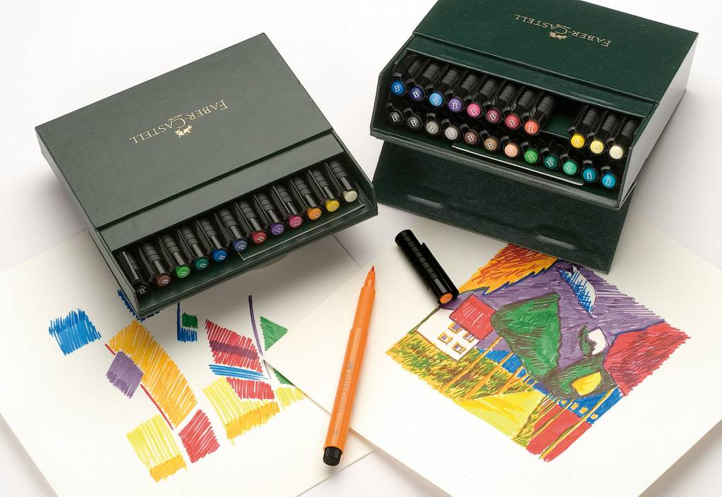 Faber Castell Drawing Pen Pitt Artist Brush 12 Pieces Studiobox FC 167146