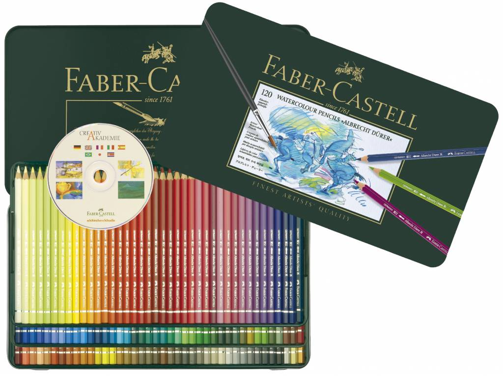 faber castell crayon de couleur aquarellables a durer etui 120 pi ces fc 117511 craftlines. Black Bedroom Furniture Sets. Home Design Ideas