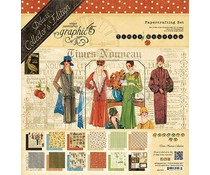 Graphic 45 Times Nouveau 12x12 Inch Deluxe Collector's Edition Paper Pad (4501000)