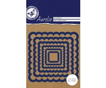 Aurelie Square Scalloped Nesting Snij- & Embossingsmal (AUCD1010)