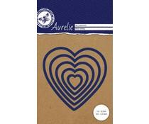 Aurelie Heart Nesting Snij- & Embossingsmal (AUCD1013)