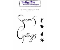 IndigoBlu Big Seasons Greetings A6 Rubber Stamp (IND0130)