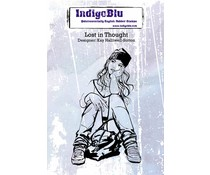 IndigoBlu Lost In Thought A6 Rubber Stamp (IND0132)