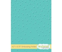 Taylored Expressions Raindrops Embossing Folder (TEEF13)