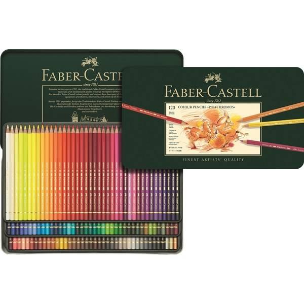 Faber Castell Color Crayon Polychromos Metal Box 120 Pieces FC 110011