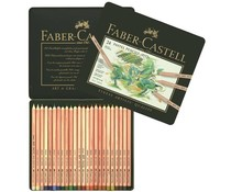 Faber Castell Pastel Pencil Pitt Metal Wallet With 24 Pieces (FC-112124)