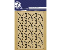 Aurelie Fish Bones Background Clear Stamp (AUCS1008)