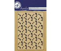 Aurelie Fish Bones Background Clear Stamp (AUCS1008)