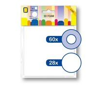 JEJE Produkt 3D Foam Round Ø 6 mm & Ø 12 mm x 2 mm (3.3122)