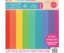 Craft Smith Embossed Brights 12x12 Inch Paper Pad (MPP0063)