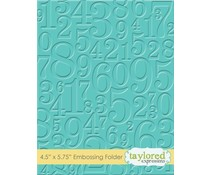 Taylored Expressions Take A Number Embossing Folder (TEEF29)