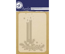 Aurelie Holy Candles Background Embossing Folder (AUEF1017)