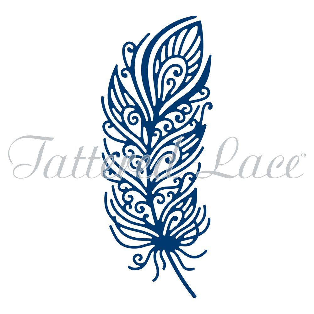 Tattered Lace Decorative Feather  D984. Tattered Lace Decorative Feather  D984    Craftlines