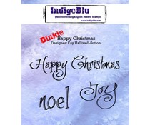 IndigoBlu Happy Christmas A7 Rubber Stamps (IND0213)