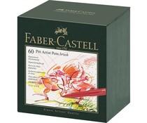 Faber Castell Drawing Pen Pitt Artist Pen Brush 60 Pieces Studiobox (FC-167150)