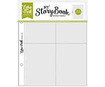 Echo Park 6x8 Inch Pocket Page - 3x4 Pockets (10 Sheets) (MSBPP603)