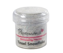 Papermania Embossing Powder (1oz) - Tinsel Snowflake (PMA 4021003)
