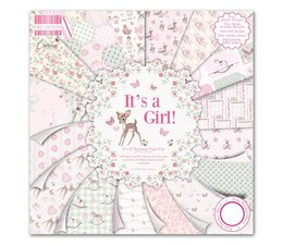 "First Edition 8""x8"" Pad - It's a Girl (FEPAD079)"