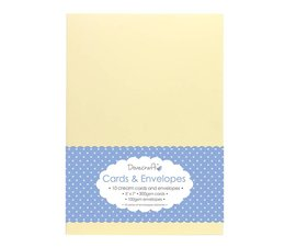 Dovecraft 10 Cream 5x7 Cards & Envelopes (DCCE028)