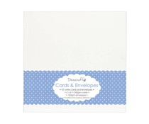 Dovecraft 10 White 6x6 Cards & Envelopes (DCCE025)