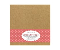 Dovecraft 10 Kraft 6x6 Cards & Envelopes (DCCE024)