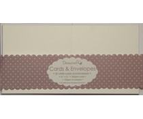Dovecraft 20 Mini White 3x3 Cards & Envelopes (DCCE031)