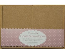Dovecraft 20 Mini Kraft 74mm x 105mm Cards & Envelopes (DCCE030)