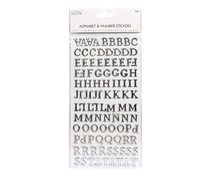 Simply Creative Alphabet & Number Stickers - Traditional Foil Silver (SCSTK027)