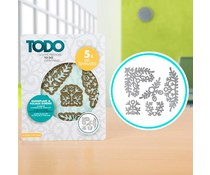 TODO Die Template Set Snowflake and Foliage Borders (370364)