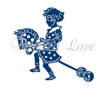 Tattered Lace Little Girl with Hobby Horse (D1414)