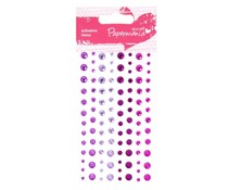 Papermania Adhesive Stones (104pcs) - Capsule - Heather (PMA 351417)