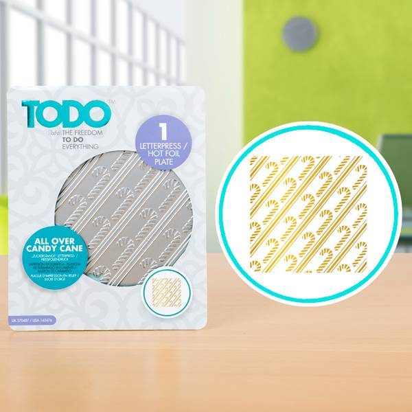 TODO Hot Foil Press All Over Candy Cane (20987)