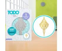 TODO Hot Foil Press Chandelier Bauble (20992)
