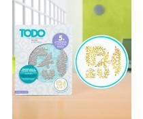 TODO Hot Foil Press Snowflake & Foliage Border (20986)